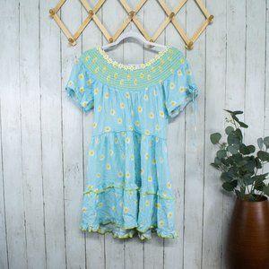 Tularosa Ronda Mini Dress Daisy Blue Skies